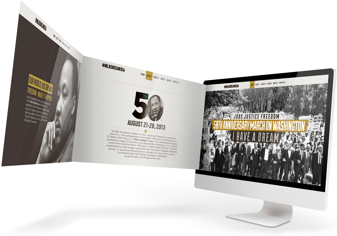 MLKDREAM50 iMac 2 2 Martin Luther King I Have A Dream Speech Lincoln Memorial